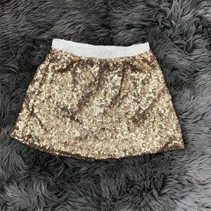 Toughskins | Girl's Sequin Skirt | Gold  | Size 4T